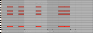 Syncopated chords in the Ableton Live piano roll